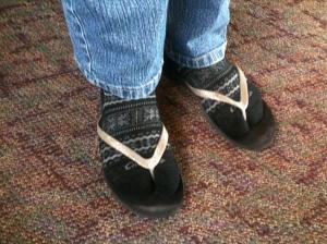 My feet in Colorado.  Sigh.
